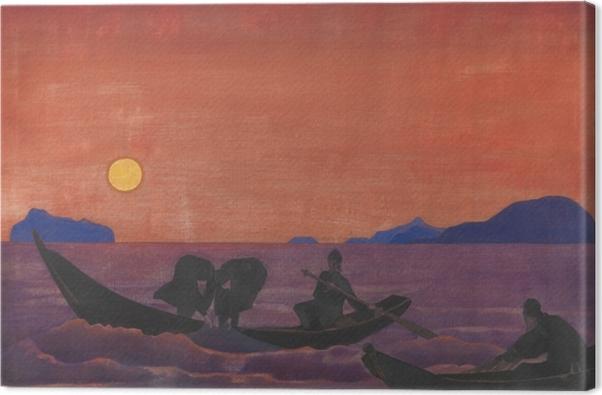 Obraz na płótnie Nikołaj Roerich - A my nadal łowimy - Nicholas Roerich