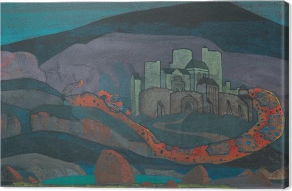 Obraz na płótnie Nikołaj Roerich - Potępione miasto - Nicholas Roerich