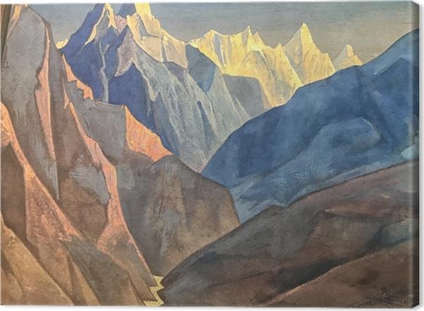 Obraz na płótnie Nikołaj Roerich - Studium gór - Nicholas Roerich