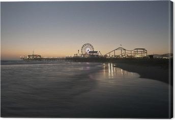 Obraz na płótnie Noc w Santa Monica Beach