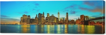 Obraz na płótnie Nowy Jork pejzaż o zachodzie słońca