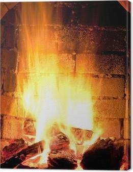 Obraz na płótnie Ogień w kominku