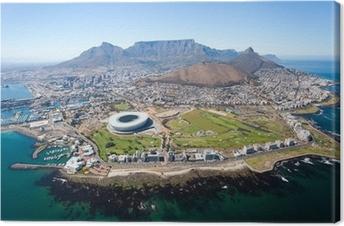 Obraz na płótnie Ogólny widok z lotu ptaka od Cape Town, Republika Południowej Afryki