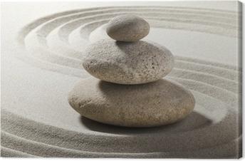 Obraz na płótnie Ogród zen z piasku i żwiru