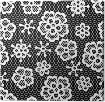 589292e787e582 Obraz na płótnie Old lace szwu, kwiatów ozdobnych. Tekstury Vector.