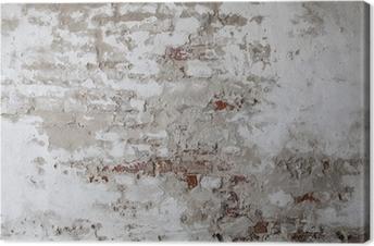 Obraz na płótnie Old Red Brick Wall z betonie