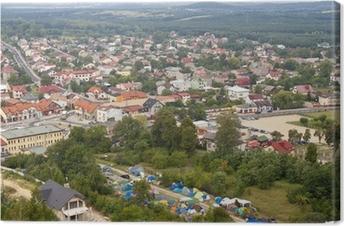 Obraz na płótnie Olsztyn Miasto - widok z lotu ptaka.