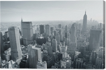 Obraz na płótnie Panoramę Nowego Jorku w czerni i bieli