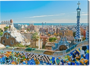 Obraz na płótnie Park Guell w Barcelonie, Hiszpania.