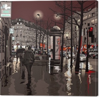 Obraz na płótnie Paryż nocą