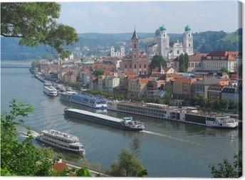 Obraz na płótnie Passau, City of Three Rivers, Bawaria, Niemcy.
