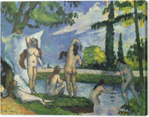 Obraz na płótnie Paul Cézanne - Kąpiące się - studium - Reprodukcje