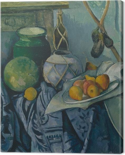 Obraz na płótnie Paul Cézanne - Martwa natura z bakłażanami i dzbanem - Reprodukcje