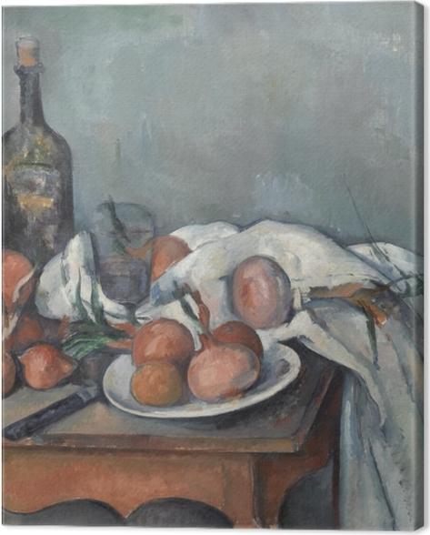 Obraz na płótnie Paul Cézanne - Martwa natura z cebulami - Reprodukcje