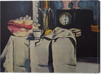 Obraz na płótnie Paul Cézanne - Martwa natura z czarnym zegarem