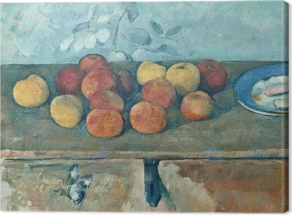Obraz na płótnie Paul Cézanne - Martwa natura z jabłkami i biszkoptami - Reprodukcje