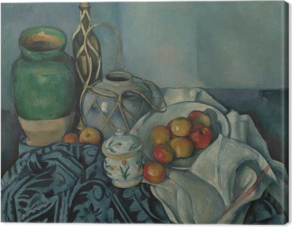 Obraz na płótnie Paul Cézanne - Martwa natura z jabłkami - Reprodukcje