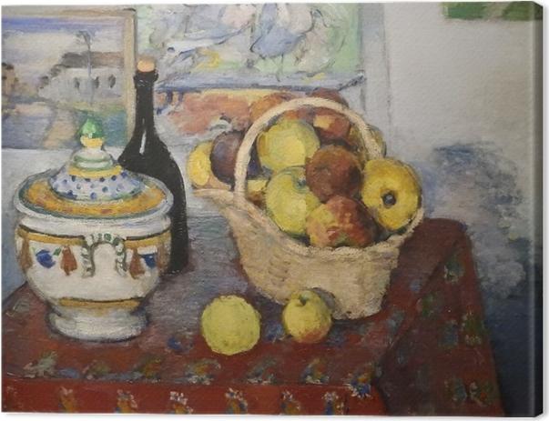 Obraz na płótnie Paul Cézanne - Martwa natura z wazą - Reprodukcje