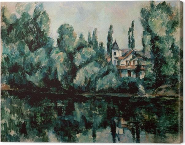 Obraz na płótnie Paul Cézanne - Nad brzegiem Marny - Reprodukcje
