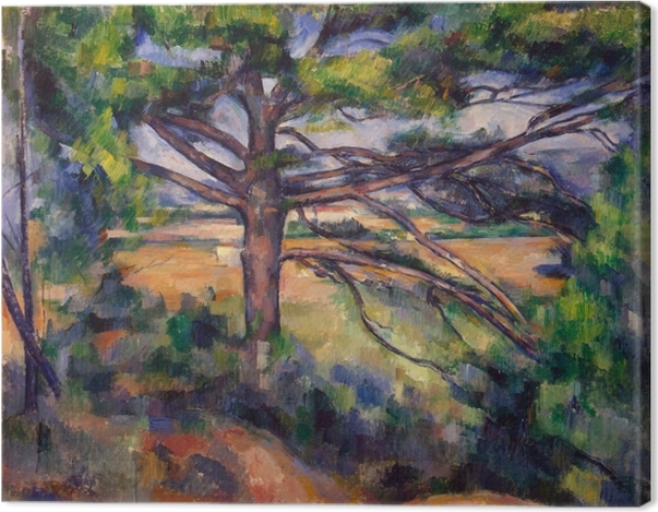 Obraz na płótnie Paul Cézanne - Wielka sosna - Reprodukcje