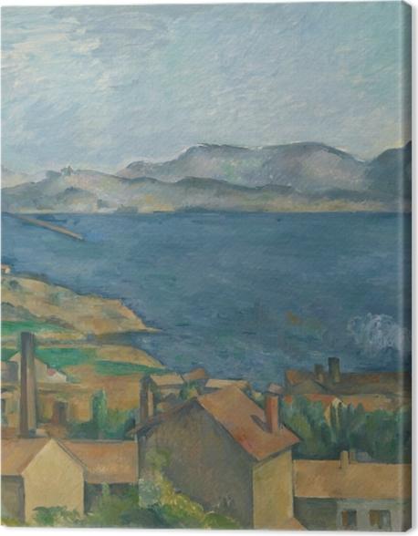 Obraz na płótnie Paul Cézanne - Zatoka Marsylijska widziana z Estaque - Reprodukcje
