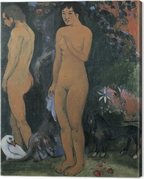Obraz na płótnie Paul Gauguin - Adam i Ewa - Reprodukcje