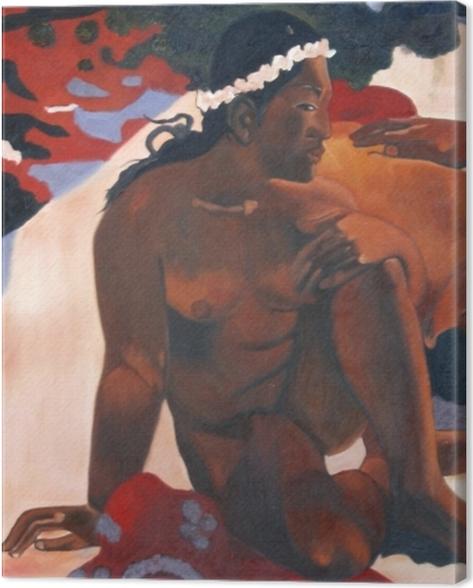 Obraz na płótnie Paul Gauguin - Aha oe feii? (Cóż to? Jesteś zazdrosna?) - Reprodukcje