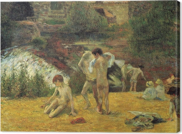 Obraz na płótnie Paul Gauguin - Bretońscy chłopcy w kąpieli - Reprodukcje