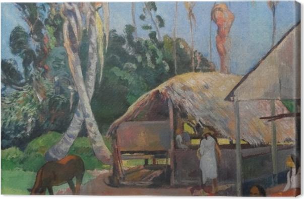 Obraz na płótnie Paul Gauguin - Czarne świnie - Reprodukcje
