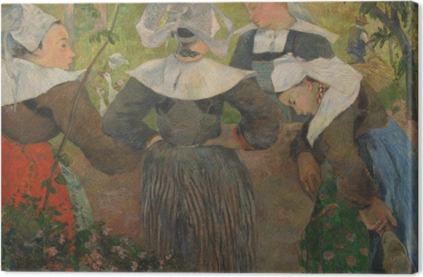 Obraz na płótnie Paul Gauguin - Cztery bretońskie kobiety - Reprodukcje