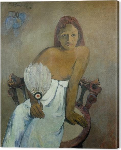 Obraz na płótnie Paul Gauguin - Dziewczyna z wahlarzem - Reprodukcje
