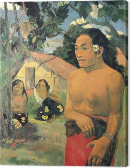 Obraz na płótnie Paul Gauguin - E haere oe i hia? (Dokąd idziesz?) - Reprodukcje