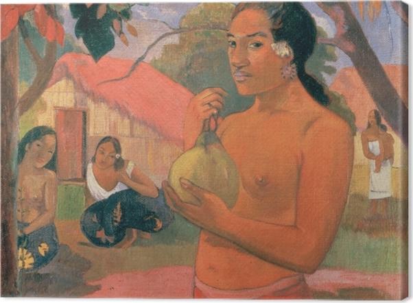 Obraz na płótnie Paul Gauguin - Ea Haere ia oe (Kobieta trzymająca mango) - Reprodukcje