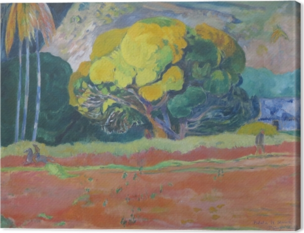 Obraz na płótnie Paul Gauguin - Fatata te moua (U podnóża góry) - Reprodukcje