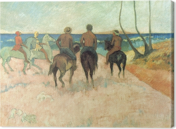 Obraz na płótnie Paul Gauguin - Jeżdżcy na plaży - Reprodukcje