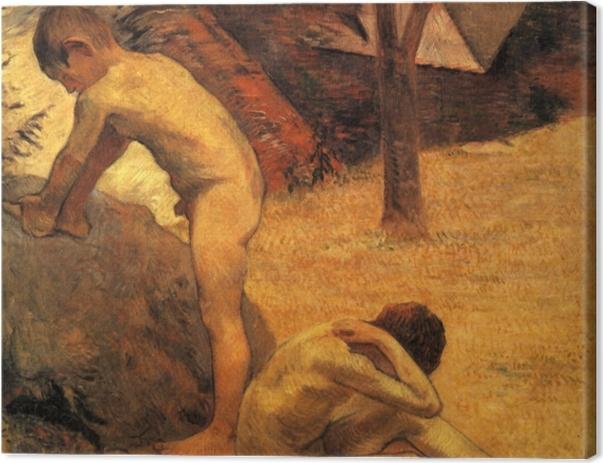 Obraz na płótnie Paul Gauguin - Kąpiący się bretońscy chłopcy - Reprodukcje