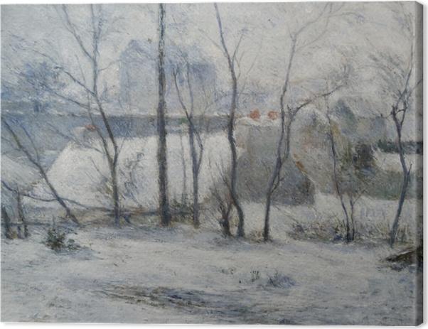 Obraz na płótnie Paul Gauguin - Krajobraz zimowy - Reprodukcje