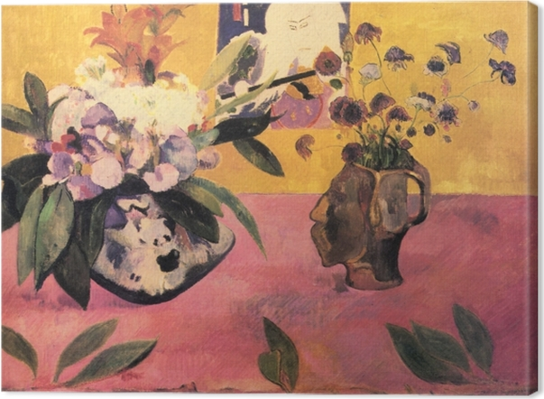 Obraz na płótnie Paul Gauguin - Kwiaty i japońska książka - Reprodukcje