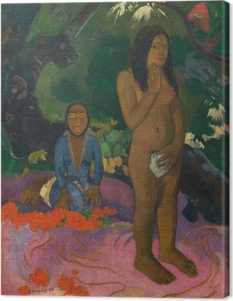 Obraz na płótnie Paul Gauguin - Mahna No Varua Ino ( Słowa diabła) - Reprodukcje