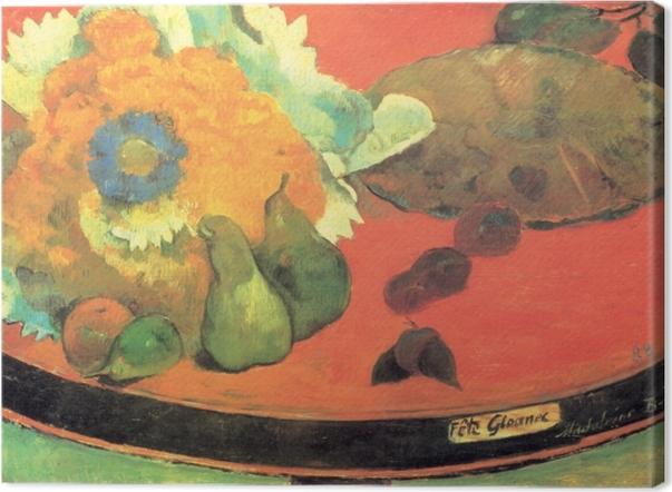 Obraz na płótnie Paul Gauguin - Martwa natura Fête Gloanec - Reprodukcje