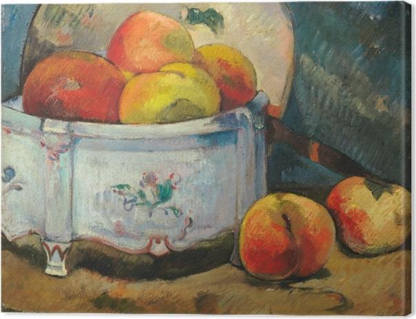 Obraz na płótnie Paul Gauguin - Martwa natura z brzoskwiniami - Reprodukcje