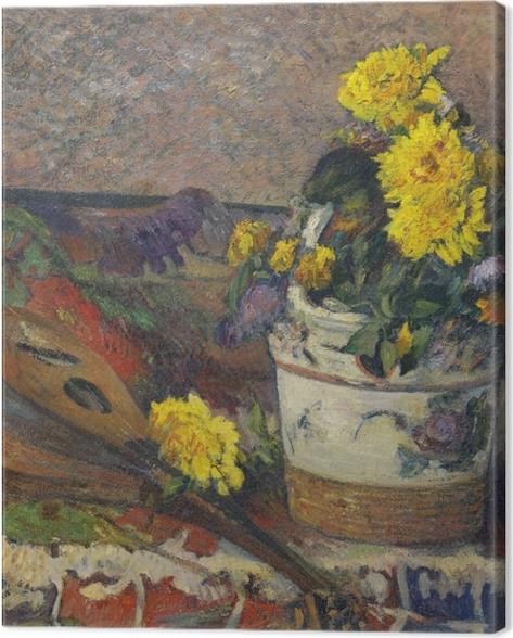 Obraz na płótnie Paul Gauguin - Martwa natura z mandoliną - Reprodukcje
