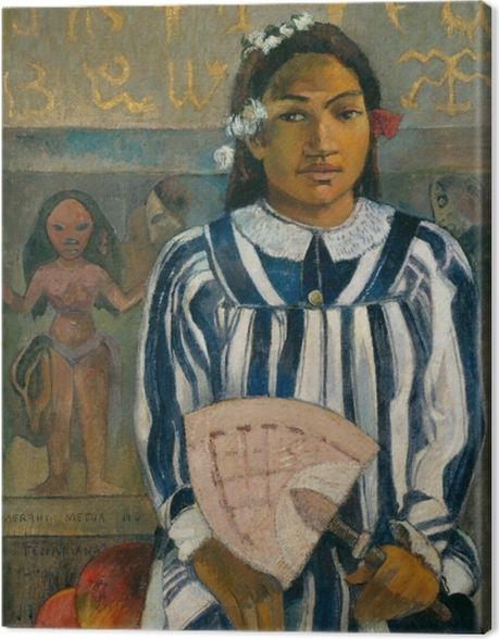Obraz na płótnie Paul Gauguin - Merahi metua no Tehamana (Tehamana ma wielu przodków) - Reprodukcje