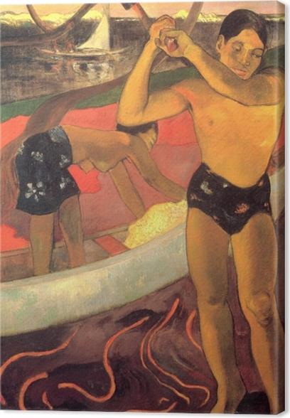 Obraz na płótnie Paul Gauguin - Mężczyzna z siekierą - Reprodukcje