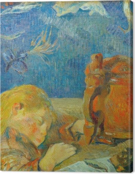 Obraz na płótnie Paul Gauguin - Portret Clovis Gauguin (Śpiące dziecko) - Reprodukcje