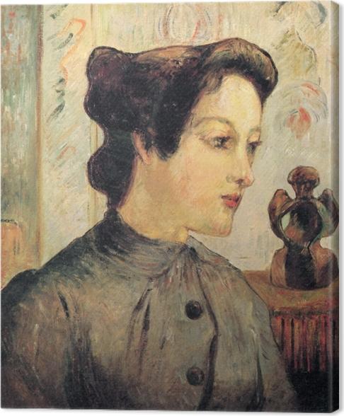 Obraz na płótnie Paul Gauguin - Portret młodej kobiety - Reprodukcje