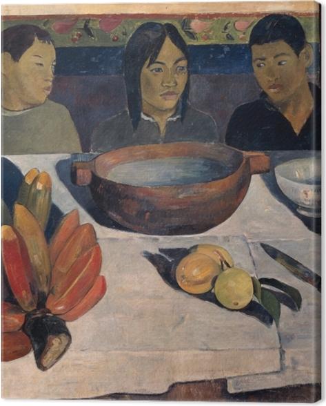 Obraz na płótnie Paul Gauguin - Posiłek (Banany) - Reprodukcje