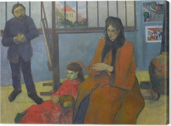 Obraz na płótnie Paul Gauguin - Rodzina Schuffenecker - Reprodukcje
