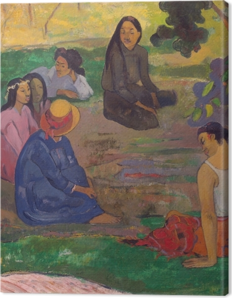 Obraz na płótnie Paul Gauguin - Rozmowa - Reprodukcje