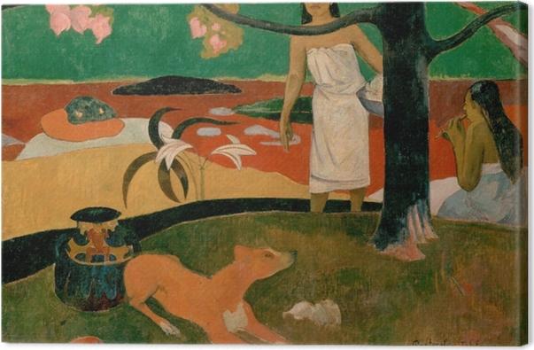 Obraz na płótnie Paul Gauguin - Tahitańskie pasterki - Reprodukcje